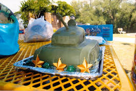 3d Tank Cake For 5 Year Old Army Themed Birthday Party