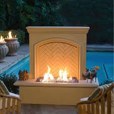 american fyre designs 65 inch outdoor natural gas arch stone