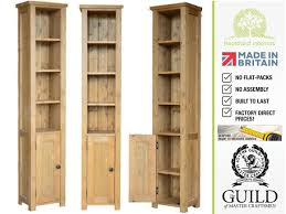 Tall Narrow Bookcase by Bordeaux Tall Narrow Pine Bookcase With Cupboard