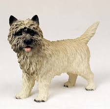 cairn terrier painted collectible figurine statue