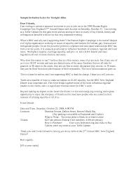 invitation letter for dinner doc formal event explore charity