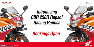 honda cbr honda cbr honda cbr 250r repsol racing replica edition bookings open