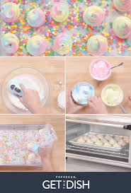 unicorn inspired meringues popsugar food