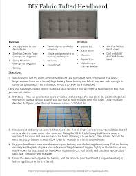 Diy Fabric Tufted Headboard by Diy Fabric Headboard Printable Png