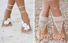 barefoot sandals for wedding wedding sandals