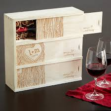 anniversary wine bottles anniversary wine box personalized wedding wine box uncommongoods