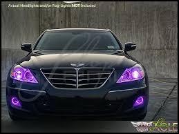 Led Car Lights Bulbs by 09 11 Hyundai Genesis 4dr Led Colorshift Halo Rings Headlights Bulbs