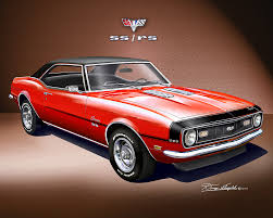 68 rs camaro 1968 camaro ss rs print poster by danny whitfield