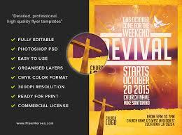 church revival flyer template flyerheroes