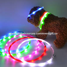 dog collar lights waterproof waterproof usb rechargeable dog collar led silicone pet collar
