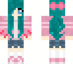 minecraft ribbon hatsune miku ribbon girl minecraft skin
