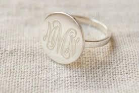 Monogram Initial Ring Personalized Monogram Ring U2013 Danielmonogramdesign