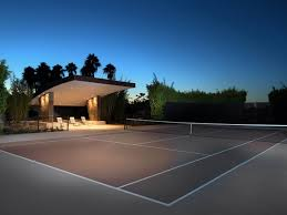 backyard sport court options include basketball courts tennis