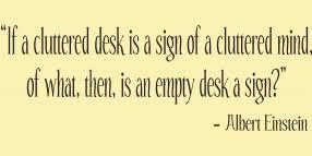 Cluttered Desk Albert Einstein Everything Is A Miracle Wall Lettering Decal Albert Einstein