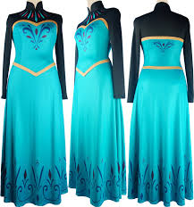 disney movie frozen elsa dress cosplay costume prom dress ball