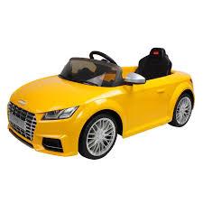 audi tts 12v licensed electric car yellow