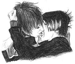 emo boys kissing d by lady poltergeist on deviantart