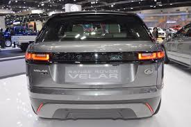 range rover velar dashboard range rover velar rear at 2017 thai motor expo indian autos blog