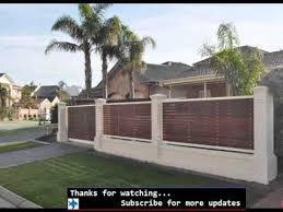 privacy fence ideas fences gates design youtube