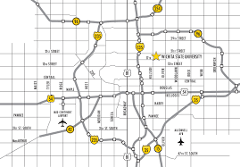 K State Campus Map by Ulrich Museum Of Art Wichita State University