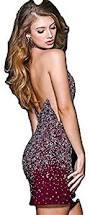 jovani 42746a burgundy body hugging short cocktail dress size 10
