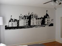 castle wall art stickers for living room decoration painting stencil