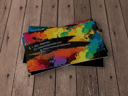 Business Cards Painting Graphic Paint Artist Business Cards Printdo Com