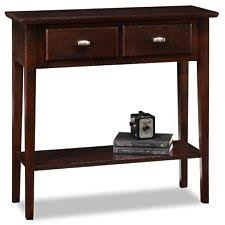 leick 10030med favorite finds shaker cabinet end leick furniture favorite finds hall console sofa table in chocolate