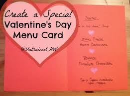 create your own special s day menu card