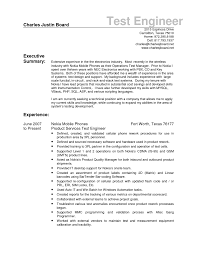 Sample Resume For Experienced Software Tester download rf drive test engineer sample resume