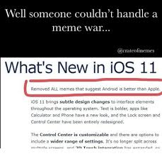 Ios Meme - well someone couldn t handle a meme war what s new in ios 11