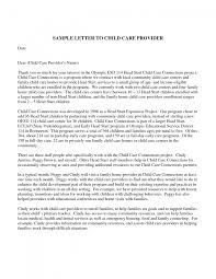 cover letter free sample reference letter for child care worker