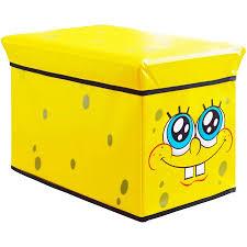 Yellow Storage Ottoman Spongebob Squarepants Kids U0027 Storage Ottoman Walmart Com