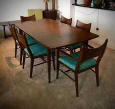 mid century dining room set danish modern unique table 7 large and