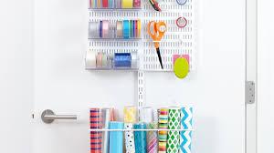 Paper Organizer For Wall Elfa Utility Door U0026 Wall Rack Youtube