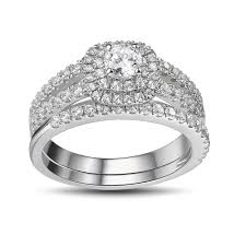 women s engagement rings cut white sapphire 925 sterling silver women s engagement