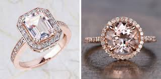 etsy diamond rings images Romantic morganite engagement rings jpg