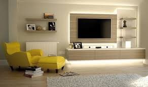 living room furniture showcase design with tv inspirations led