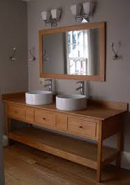 Shaker Style Bathroom Vanity by Shaker Bathroom Vanity On Double Vessel Sinks Open Style Vanity