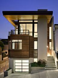 Small Concrete House Plans Modern Three Stories Small House Design Features Lovely White And