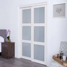 Sliding Closet Doors White Erias Home Designs Closet And Room Divider Door White 3 Lite