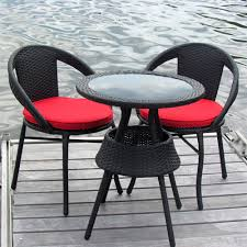 Balcony Bistro Set Patio Furniture by Henryka Lxf 1240b 3 Piece Wicker Bistro Set Lowe U0027s Canada