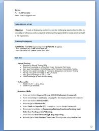 Manual Testing Fresher Resume Samples by Resume Mobile Tester Manual Tester Resume With Mobile Application