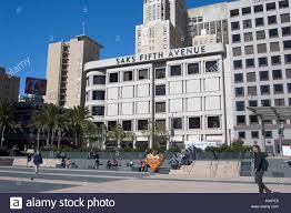 saks fifth avenue department store union square san francisco stock