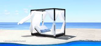 Outdoor Wicker Patio Furniture Round Canopy Bed Daybed - cabana coast products at studio west resources llc