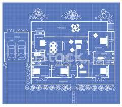 blueprint floor plan house floor plan on a blueprint stock vector freeimages com