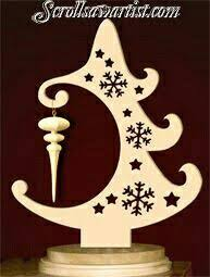 scroll saw patterns holidays trees ornament