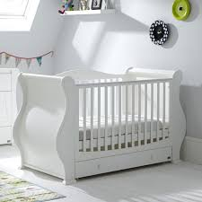Sleigh Cot Bed Tutti Bambini Louis Sleigh Cot Bed Drawer White Buy At