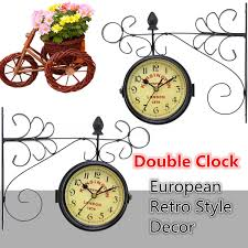 Home Decor Ebay by Vintage Antique Double Sided Wall Mount Station Clock Home Hallway