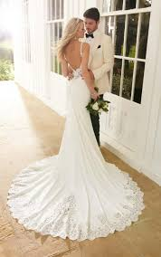 sheath wedding dresses wedding dresses backless sheath wedding dress martina liana